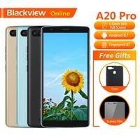 Blackview A20 Pro Original 5.5Mobile Phone 2GB+16GB Quad Core Android 8.1 Fingerprint 18:9 Full HD Screen 4G Fashion Smartphone
