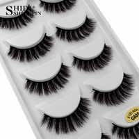 SHIDISHANGPIN 5 paires bande faux cils naturel long vison cils maquillage fait à la main faux cils 3d vison cils G600