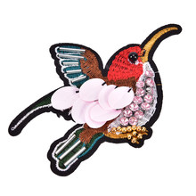 Sequined Bird Patch For Clothes Sewing On Rhinestone Beaded Applique For Jackets  Jeans Bags Shoes Beading Sequins Applique 1pcs 4a93d346a4f9