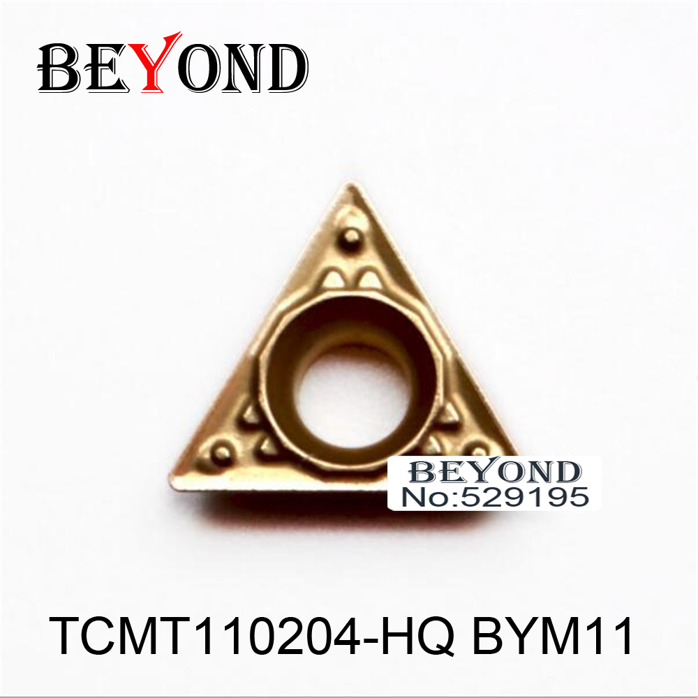 OYYU 10pcs <font><b>TCMT</b></font> <font><b>110204</b></font> TCMT110204-HQ BYM11 Turning Tool for Steel Carbide Inserts Lathe Cutter CNC roughing to interruption image
