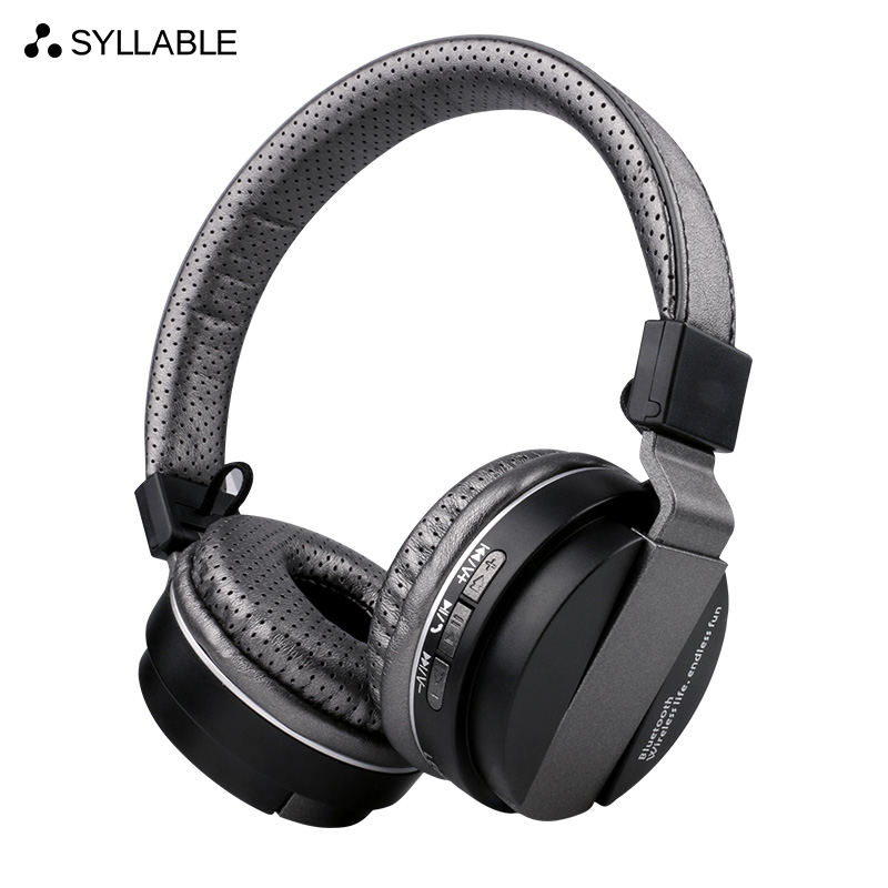 SYLLABLE BT86 Stereo Bluetooth Headphone Noise Cancelling Wireless Bluetooth Headphone SYLLABLE Portable Headset with microphone rapoo h6020 wireless bluetooth v2 1 handsfree stereo headset headphone with microphone grey