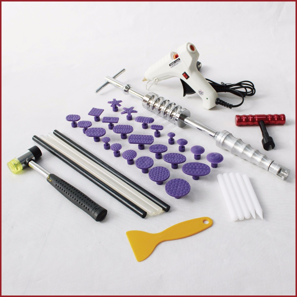 pdr tools kit dent repair paintless glue puller hammer tabs lifter pulling car bodywork auto body system remover fix removal set dent puller kit spotter welding machine repair accessories stud gun auto body tools bodywork fix weld pull removal straightening