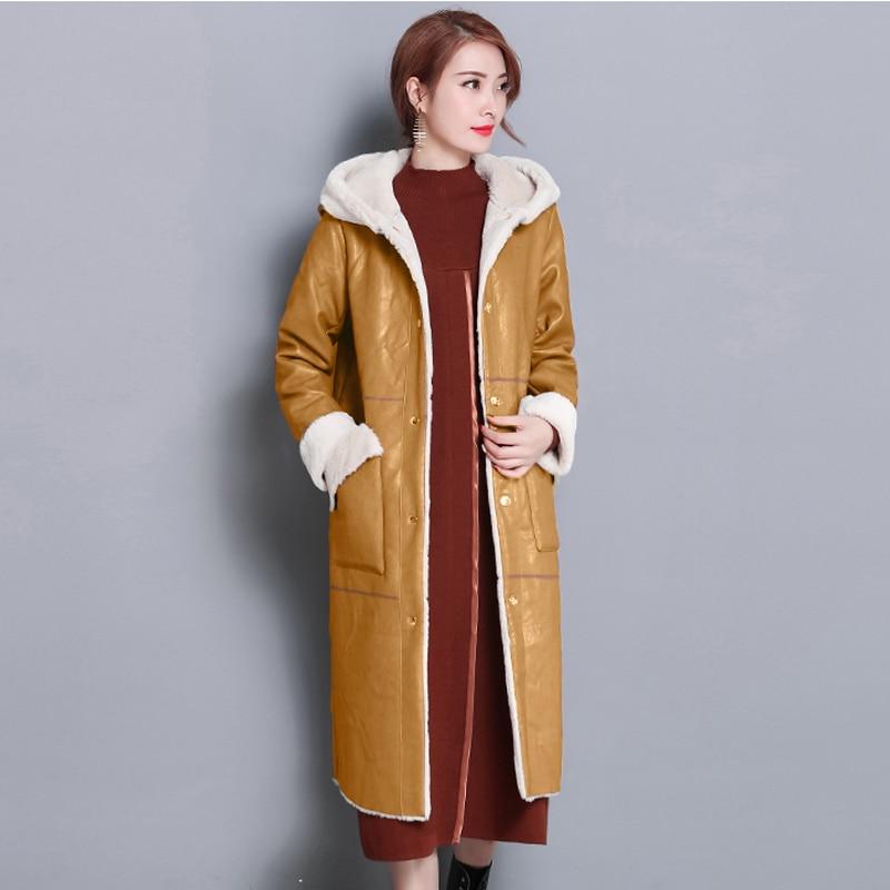 2018 Long bh4f413 Vêtements Nouvelle De 17846 Yellow Manteau Femmes Travail Automne Black Hiver Manteaux Bh4f413 Livraison Laine Mode Fourrure Qulaity Gratuite Haute dCBexo