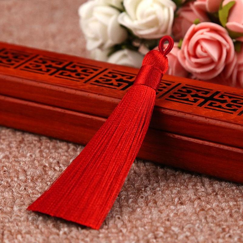 25 цветов, Новое поступление, высокое качество, горячая Распродажа, 1 шт., ручная работа, уникальные красивые шелковые кисточки, свадебные ювелирные аксессуары - Цвет: Красный