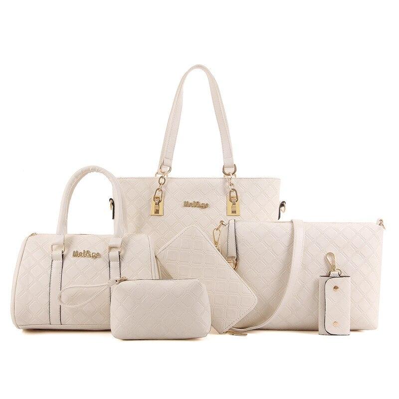 92aca0f66 6 unids mujeres bolso de cuero de la PU bolso nuevo 2016 bolsos carteras  mujer marca Bolsos Baratos 10 SAC a main femme de marca Goya bolsa en Bolsas  de ...