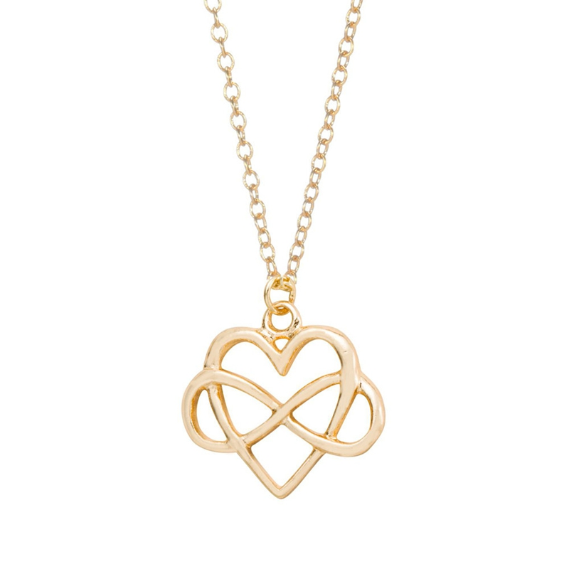 Yiustar 10pcslot Heart And Infinity Symbol Pendant Necklace For