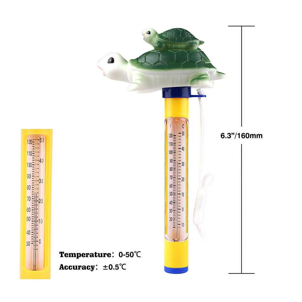 Przenośny basen pływający termometr basen termometr na zewnątrz wody do kąpieli wanna z hydromasażem Spa Jacuzzi staw termometr