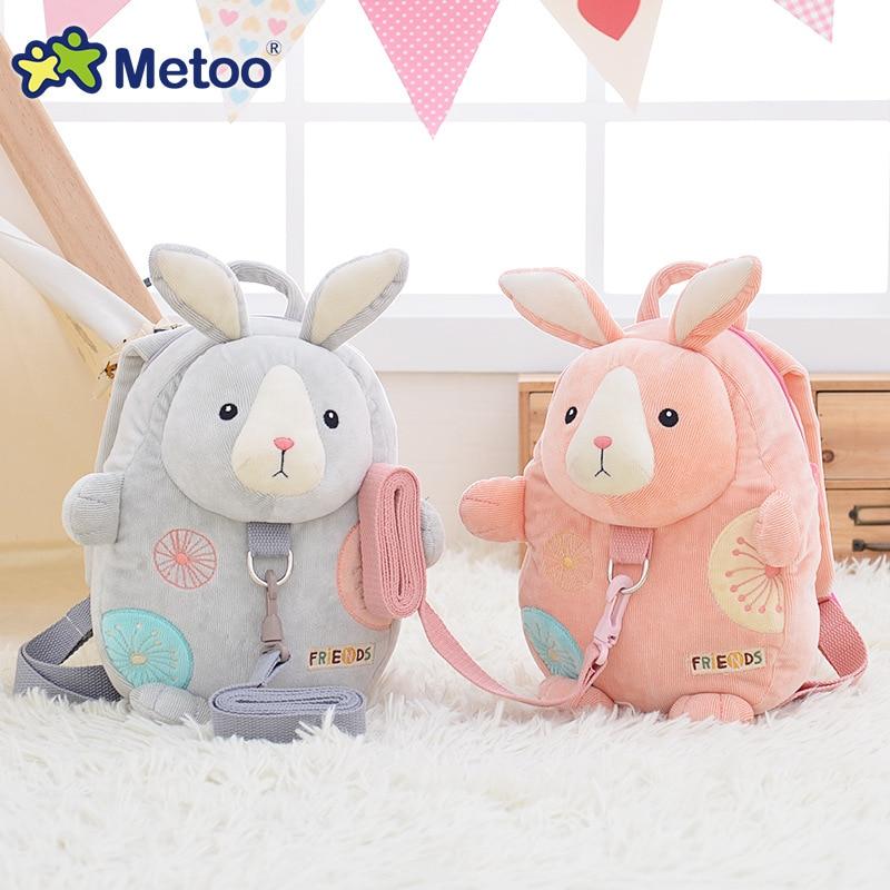 Metoo jelly beans baby children rabbit backpack lost With traction rope cute little kindergarten school bag