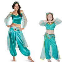 Adult Children S Aladdin S Lamp Jasmine Princess Costumes Cosplay For Girl Halloween Party Belly Dance