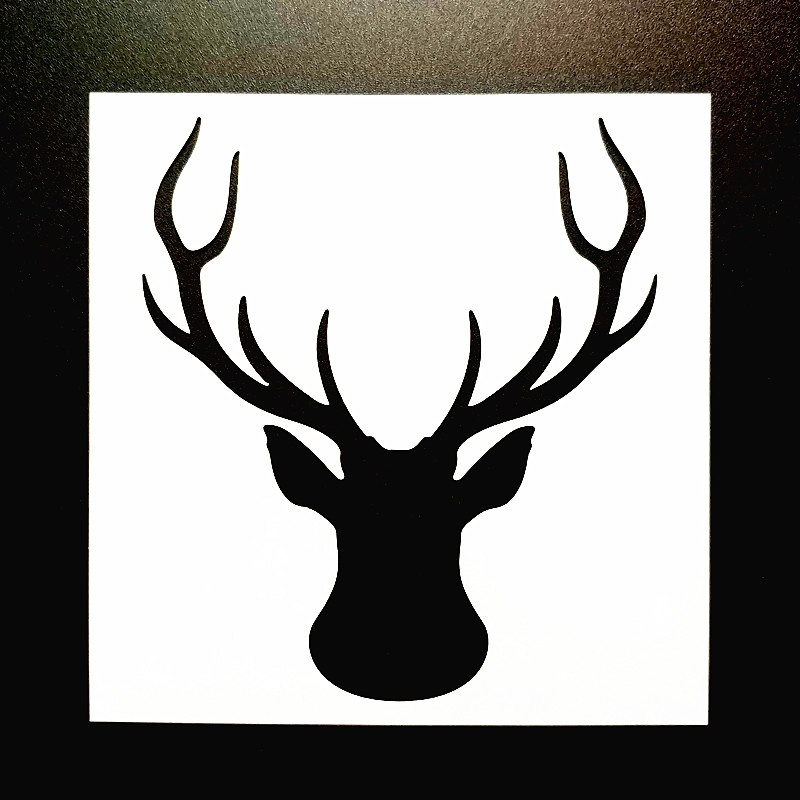 13 13cm DIY Craft Deer Head Pattern Stencil Template For Wall Painting Scrapbooking Stamping Photo Album Decor