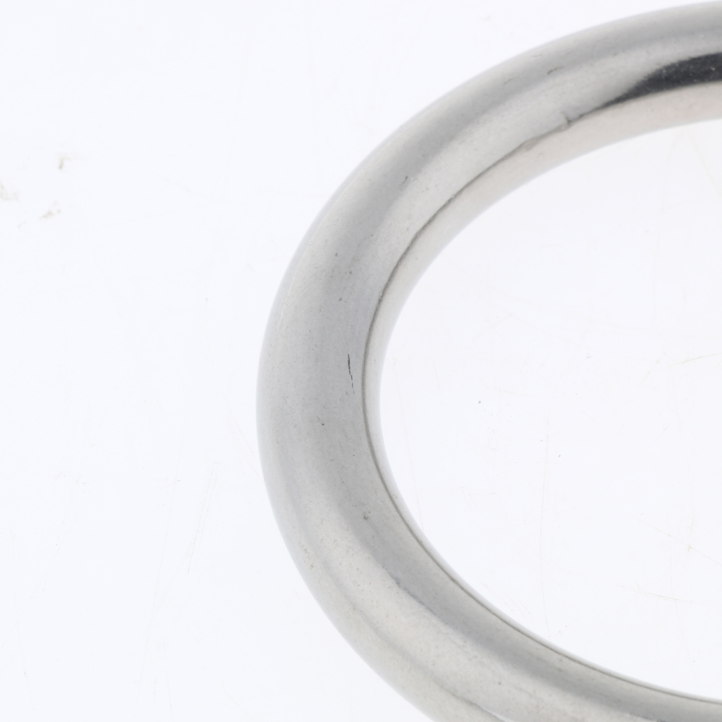 Welded Metal O Ring 304 Stainless Steel Round Buckle Webbing Strapping Boat