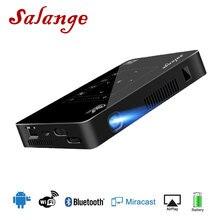 Salange P10 מיני מקרן עבור טלפון נייד Led נייד Projetor אנדרואיד WIFI Bluetooth 8000 mAH סוללה HDMI ב נייד Beamer