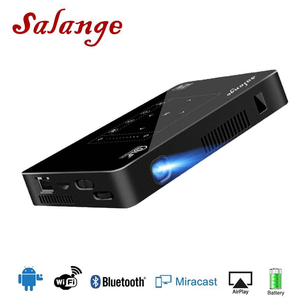 Salange P10 Mini Projecteur Led Projetor Mobile Téléphone Android WIFI Bluetooth 8000 mah Batterie HDMI à L'appui 4 k Portable beamer