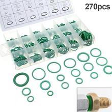 Инструмент резиновое уплотнительное кольцо шайба уплотнения ассортимент зеленый 18 размеров 270 шт для автомобиля ремонт автомобиля