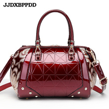 JJDXBPPDD Women Bags Shoulder Handbags Large Capacity Women #8217 s Handbags Shoulder Messenger bags Floral Luxury Patent Leather Bag cheap Casual Tote Shoulder Bags Shoulder Handbags zipper HARD NONE Fashion DJDD-115 Polyester Versatile Single Interior Compartment