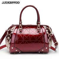 JJDXBPPDD Women Bags Shoulder Handbags Large Capacity Women's Handbags Shoulder Messenger bags Floral Luxury Patent Leather Bag
