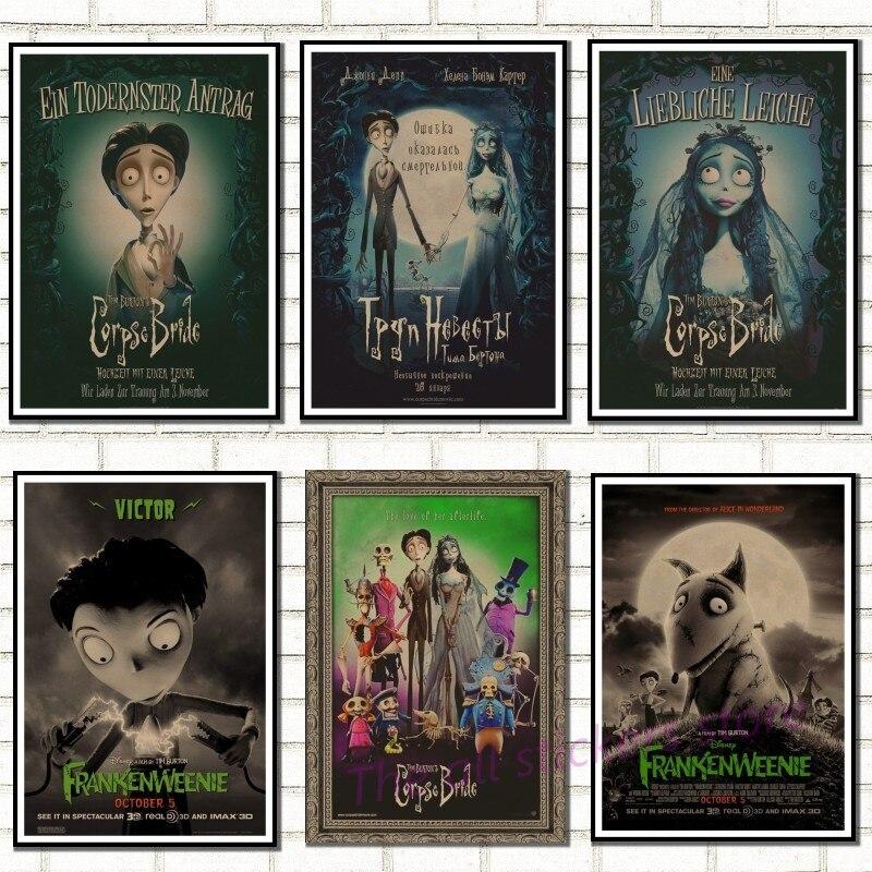 Tim Burton movie posters.The Corpse Bride. Vintage Retro Matte Kraft Paper Antique Poster Wall Sticker Home Decora/8007