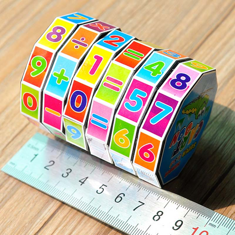 1PC Children Education Learning Math Toys Teaching Aids Puzzle Cube ...