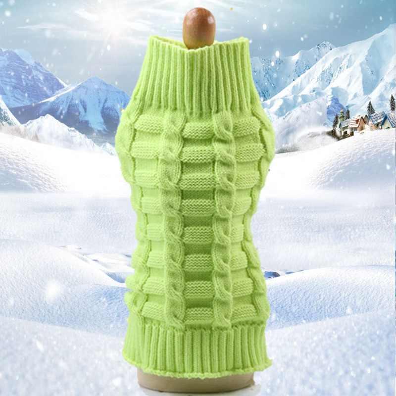 Толстовка Одежда для щенков с собачкой Померанский вязаный свитер для кота теплое пальто для больших милых таксы Pitbull вязание крючком E