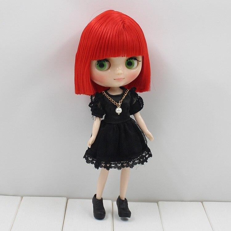 Factory Middie Blythe Doll Red Short Hair Regular Body 20cm