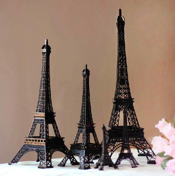 25cm Height Cool Black Paris Eiffel Tower Souvenirs Model Torre Eiffel Vintage Home Decor Ornament Carre