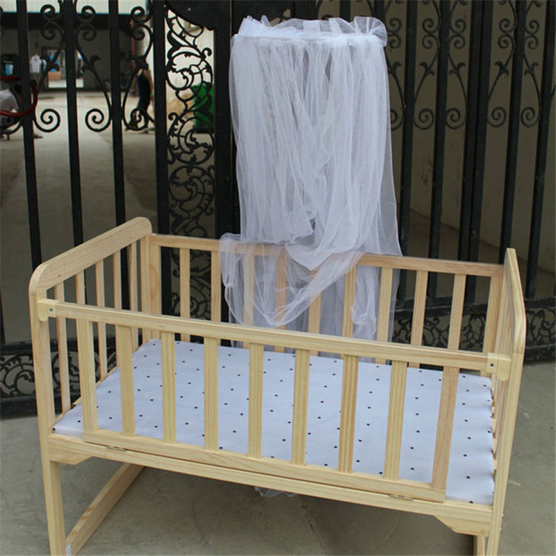New mosquito bar Baby <font><b>Bed</b></font> <font><b>Toddler</b></font> <font><b>Bed</b></font> Crib Canopy Home Mother White