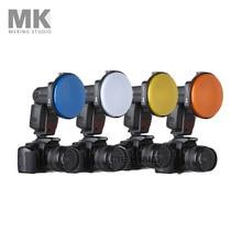 Flash light Adapter Kit Accessory K9/K-9 4 Color Covers filter for Speedlite Speedlight Photo Studio Accessories