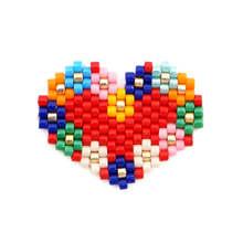Shinus 10Pcs/lot Miyuki Accessories Fit Perles MIYUKI Bracelet Necklace Bohemian Heart Love Jewelry Handmade Beautiful Bijoux