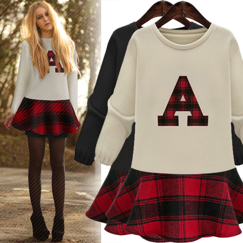 Preppy Style Long Sleeve Plus Size High School Lady S Dresses Free Shipping Online Ping In From Women Clothing Accessories On Aliexpress