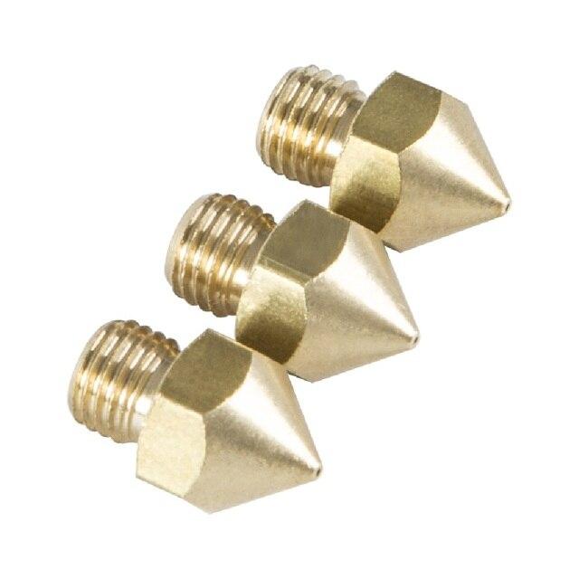 3D-принтеры Запчасти оригинальный Creality CR-10S Pro 3 шт сопла 0,2 мм/0,4 мм/0,6 мм/0,8 мм /1,0 мм