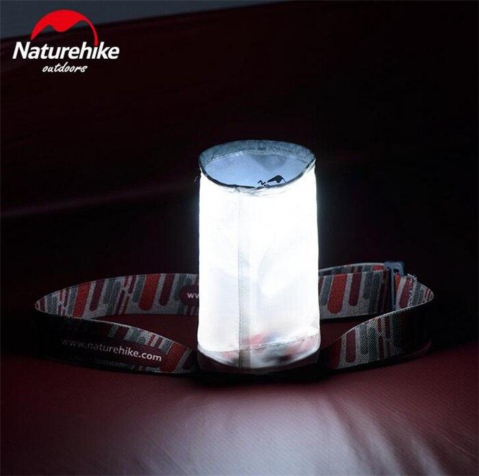 Naturehike pesca noturna ao ar livre ipx6 à prova dportable água farol portátil conduziu a lâmpada de iluminação boné acampamento viajar 3 modelo