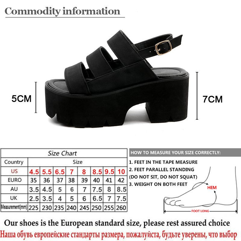 Gdgydh Rome Style Ankle Wrap Fashion Women Sandals 2019 New Summer Ladies Platform Shoes Woman Casual Shoes Black Comfortable