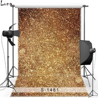 MEHOFOTO New Fabric Polyester Photography Background For Wedding Gold Shimmer Vinyl Background For Children Photo Studio 1481
