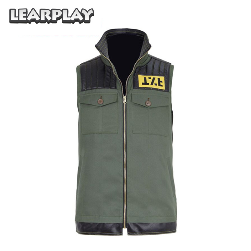 My Chemical Romance Frank Iero Fun Ghoul Cosplay Costume Green Vest Sleeveless Men Biker Top 400026 mint green casual sleeveless hooded top