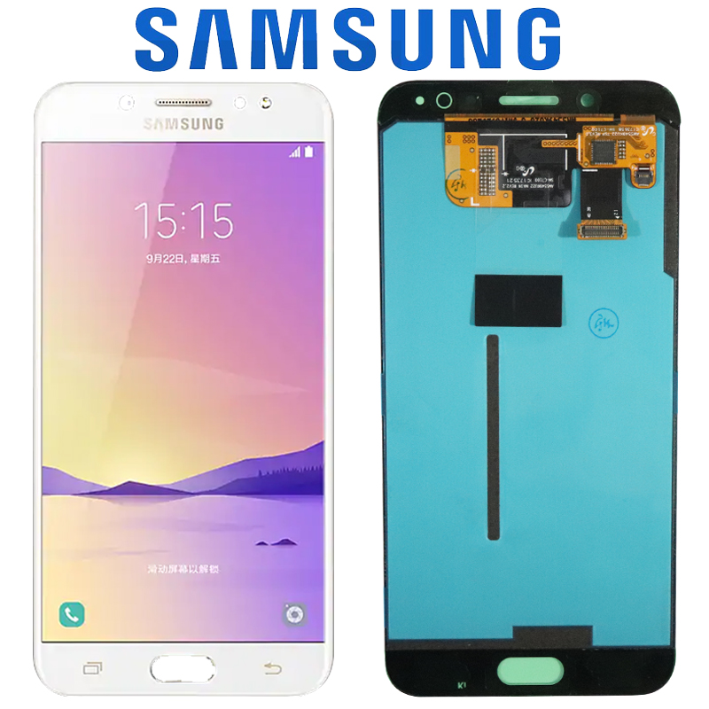 100 ORIGINAL 5 5 AMOLED LCD Replacement for SAMSUNG Galaxy C8 C7100 C710F Display Touch Screen
