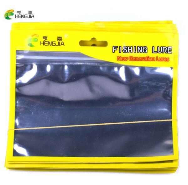 HENGJIA 100pc fishing lures bag Ziplock 13cm 16cm Self Seal Zipper Plastic Retail Packing Poly Bag, Zip Lock Bag Package