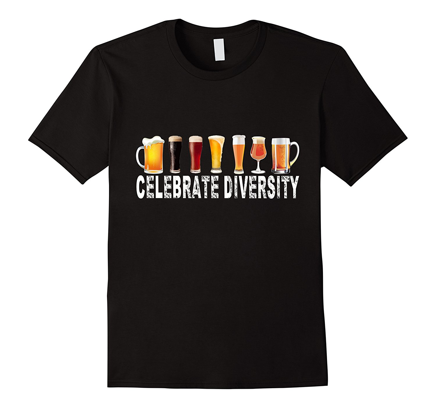 Celebrate Diversity Beer T-shirt Hot Sale Men T Shirt Fashion 100% Cotton Print Mens Summer O-Neck Loose Clothes Chinese Style
