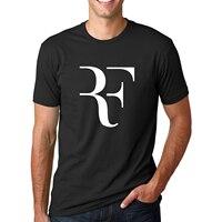 Summer Fashion RF Perfect Letter Printed T Shirt 2016 Men Roger Federer Short Sleeve T Shirt
