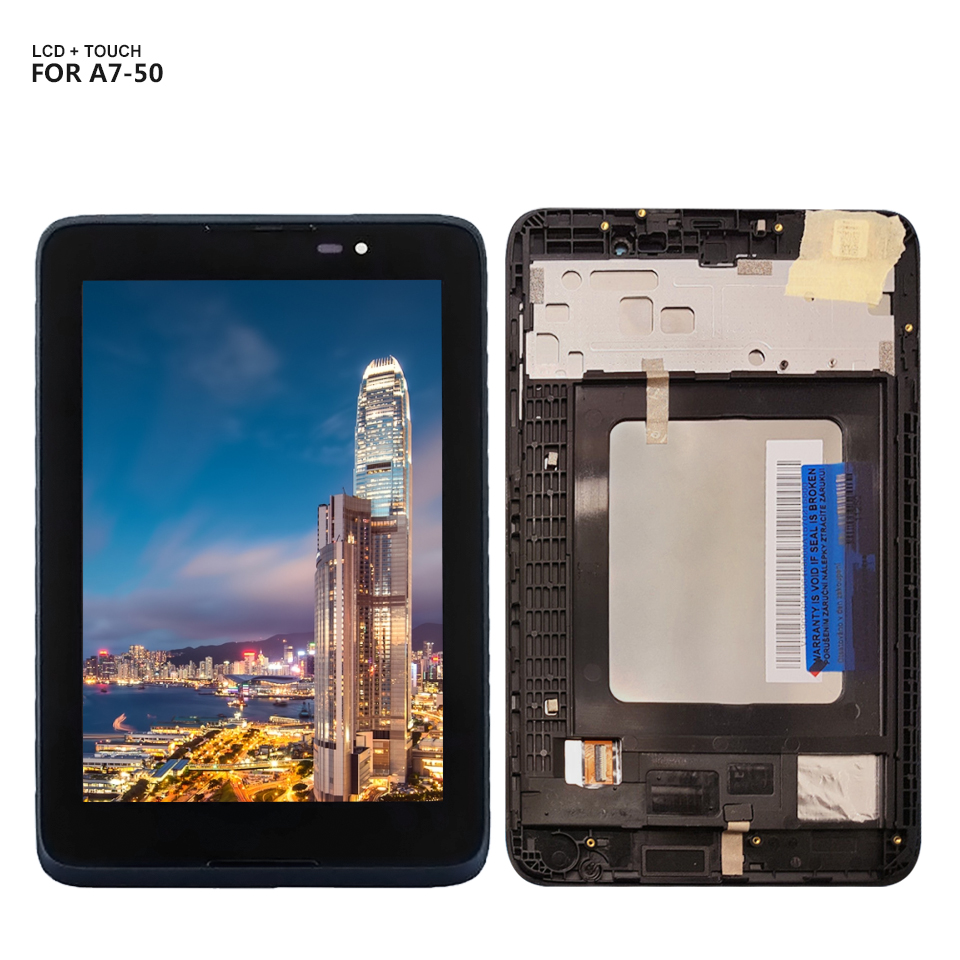 купить For Lenovo IdeaTab A3500 A3500-F A3500-H A7-50 Touch Screen Digitizer Glass Lcd Display assembly with Frame по цене 1971.25 рублей