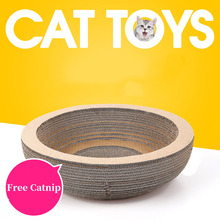 New Arrival Cat Round Scratcher Product Bed Scratching Board  Claws Care Interactive Toys For cat Pet Products