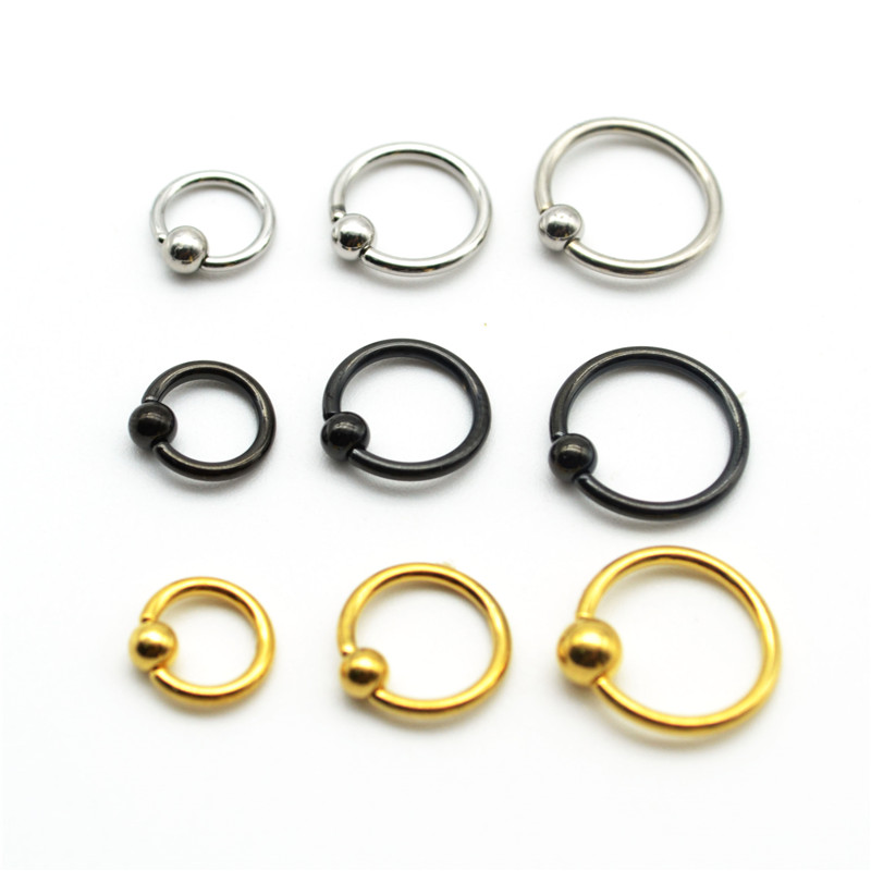 Rational Hengke Bcr Gold Blue Rainbow Ball Closure Captive Ring Lip Nose Ear Tragus Septum Ring 6mm 8mm 10mm 16g Rose Gold Body Jewelry Jewelry Sets & More