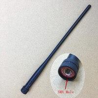 Honghuismart 136-174 400-480 mhz ham antenna sma maschio per wouxun kg-uv8d, kg-uv6d, yaesu, vertex standard, linton etc walkie talkie