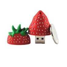 Новая еда фрукты Клубника ручка привод USB флэш-накопитель 4 ГБ 8 ГБ 16 ГБ 32 ГБ 64 ГБ милый Флешка u-накопитель USB 2,0 карта памяти