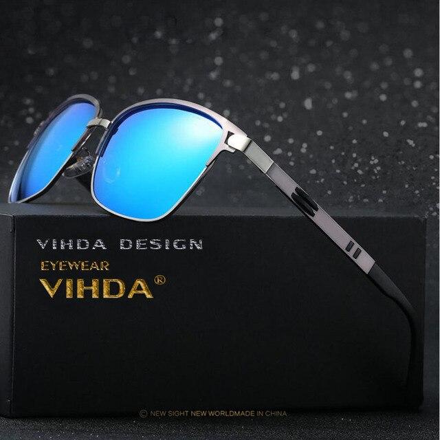 06e82e1dc86f71 VIAHDA Polarisées lunettes de Soleil Hommes Marque D origine HD Polaroid  Lentille Réfléchissant Revêtement Conduite