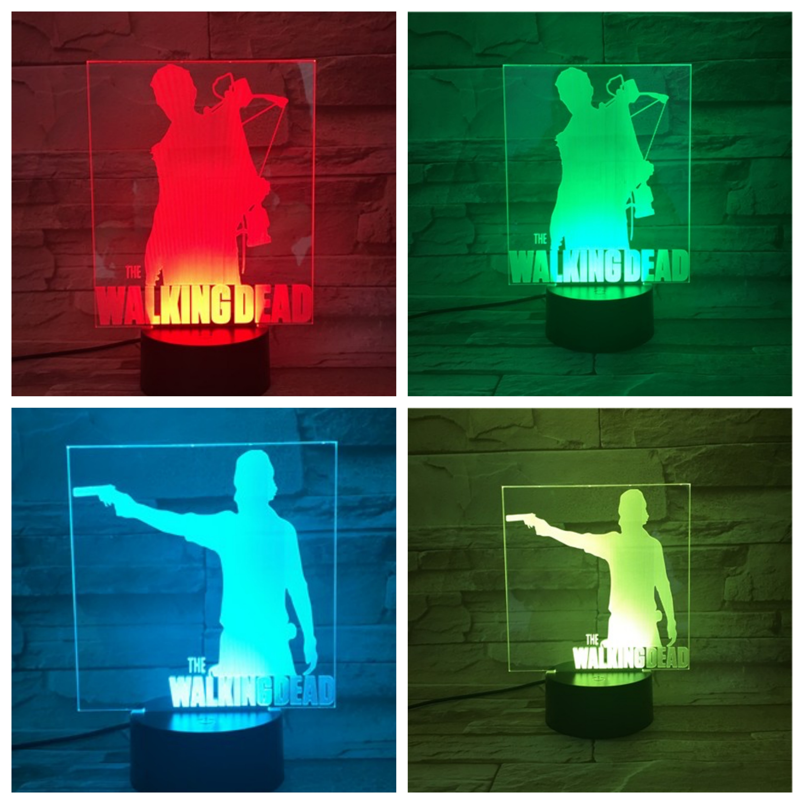 Movie The Walking Dead Table Lamp Bedroom USB Touch Sensor Room Decorative Lamp Birthday Holiday Festival Gift LED Night Light