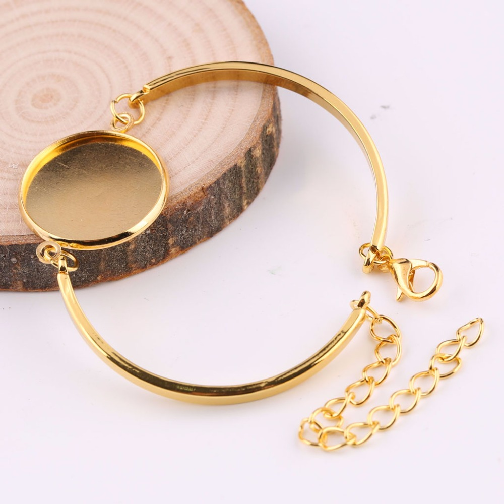 onwear 10pcs fit 20mm round cabochon bracelet blanks gold plated metal cuff bracelets bangle base settings diy jewelry findingsonwear 10pcs fit 20mm round cabochon bracelet blanks gold plated metal cuff bracelets bangle base settings diy jewelry findings