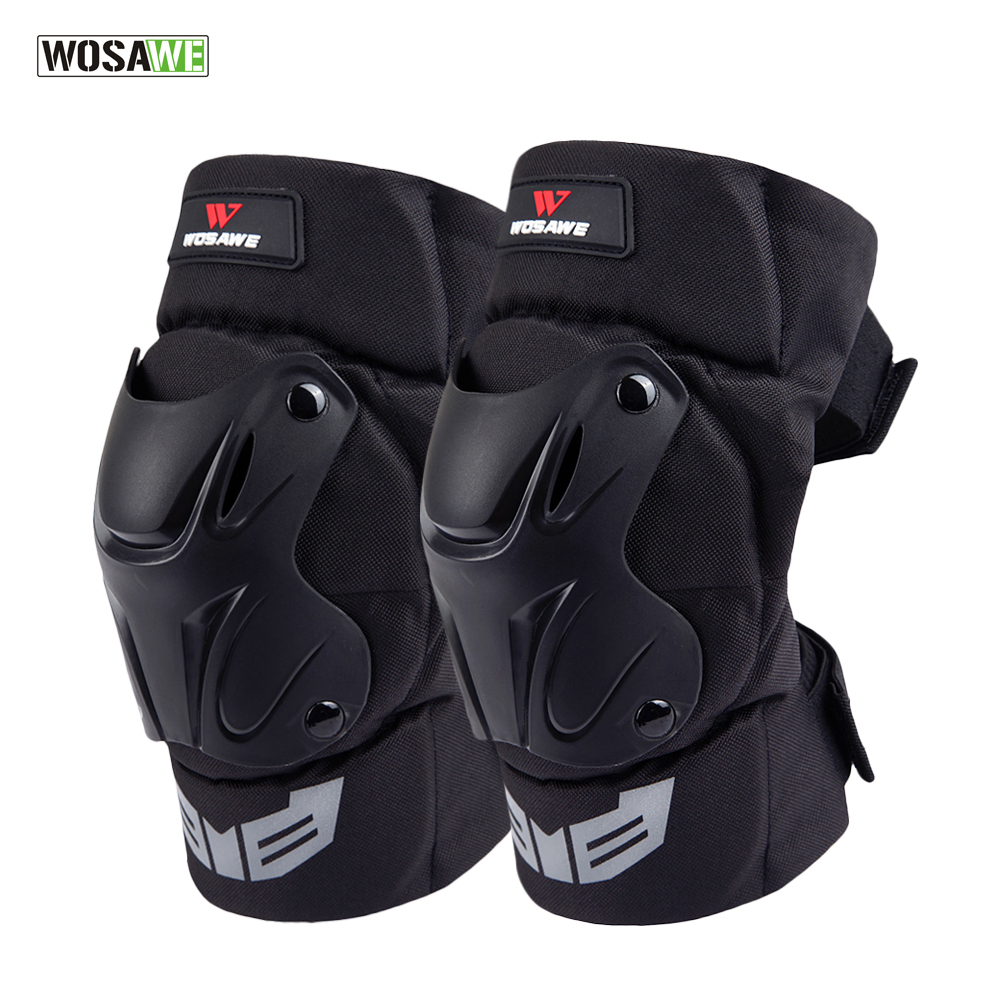 WOSAWE 1Pair Knee Adults Tactical Protective Pads Extreme Sports Knee Protector Ski motorcycle Safety knee brace PE shell, foam