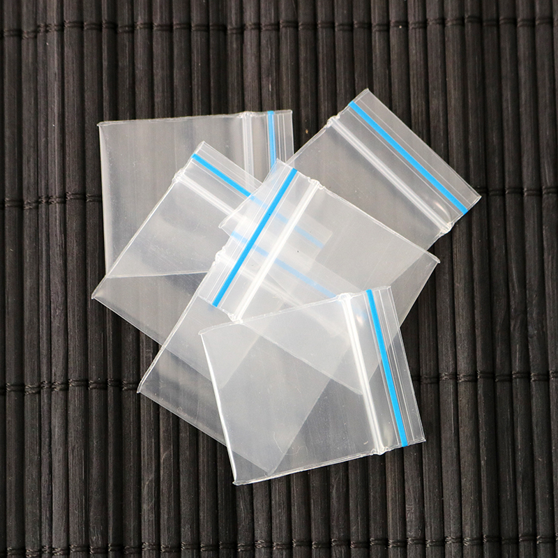 Wholesale 20mil Thick Small Clear With Blue Line Self Sealing ZipLock Plastic Pill Packaging Bags 2.7x3.7cm Free Shipping