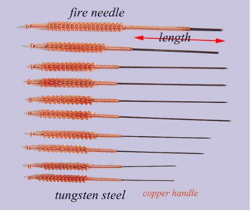 Medical Cosmetology Fire Needle Tungsten Steel Massage Acupuncture Needle Non-disposable Chinese Medical Acupuncture Tools 5pcs