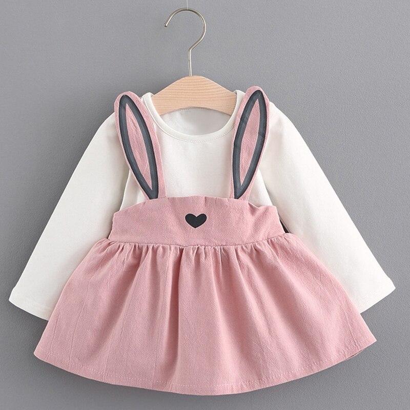 Melario Baby Dresses 2018 New Spring Autumn Baby Girls Clothes Printing Girls Party Dress Princess Dress Suit Newborn Dress